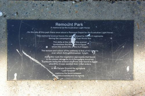 remount Park Insc-Memorial Ave : March 2014