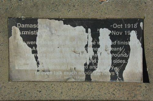 Memorial Avenue Plaque 5 : March 2014