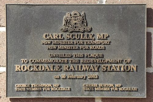 Railway Station Plaque : August 2014