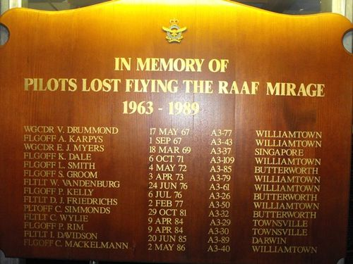 Royal Australian Air Force Mirage Pilots : 05-June-2011
