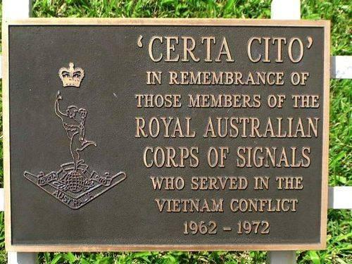 Royal Australian Corps of Signals Vietnam Plaque / March 2013