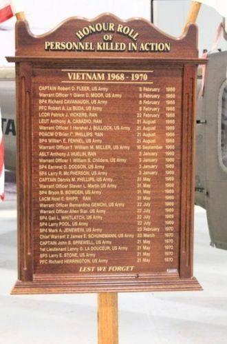 Royal Australian Navy Helicopter Flight Vietnam Roll of Honour : 10-July-2011