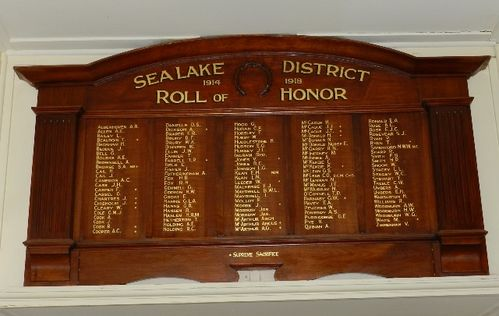 Sea Lake District Roll of Honour : 22-March-2013