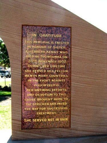 Sister Kenny Memorial Inscription