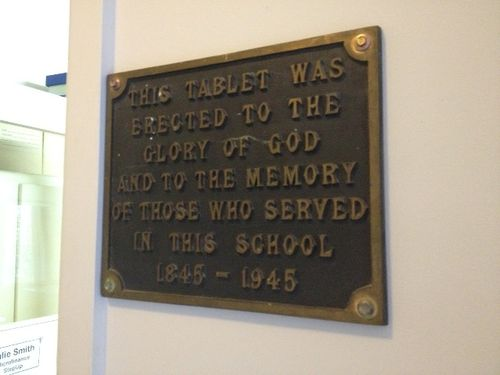 Methodist School Centenary Plaque : December 2013