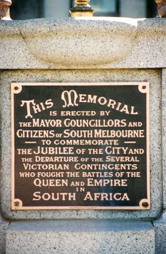 South Melbourne South African War Memorial