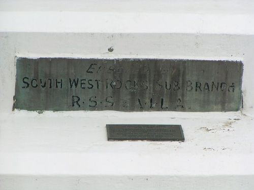 South West Rocks Dedication Plaque