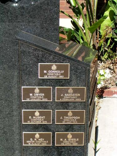 Southern Police Memorial Plaques