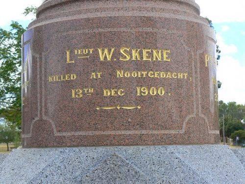St Arnaud Boer War Memorial   Left Side
