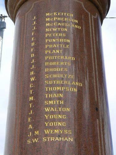 St Arnaud Boer War Memorial   Right Side