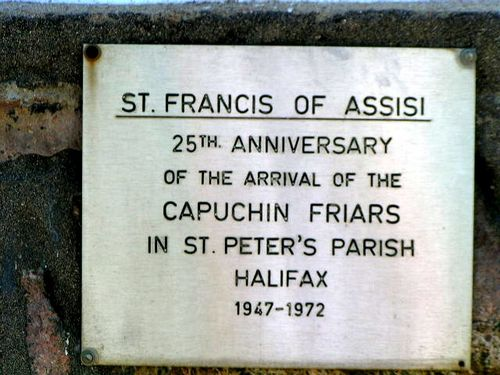 St Francis of Assisi Plaque