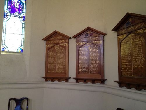 St Giles Honour Rolls : November 2013