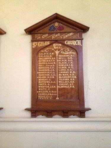 Honour Board 1 : November 2013