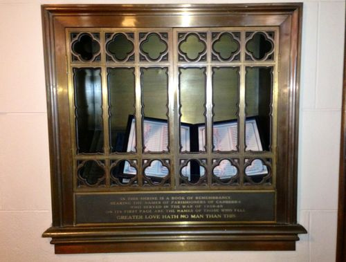 St John`s Book of Remembrance : 11-May-2013