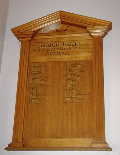 Sulphide Street Methodist Church Honour Roll : 01-June-2013