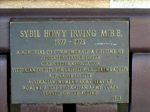 Sybil Howy Irvings Plaque
