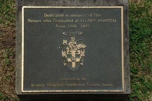 Sydney Hospital Nurses Plaque : November 2013