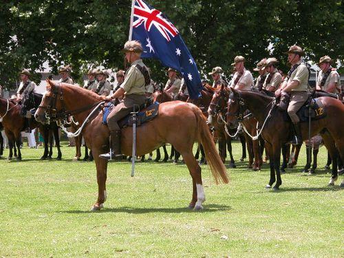Light Horse troop at the memorial dedication (David Evans OAM)