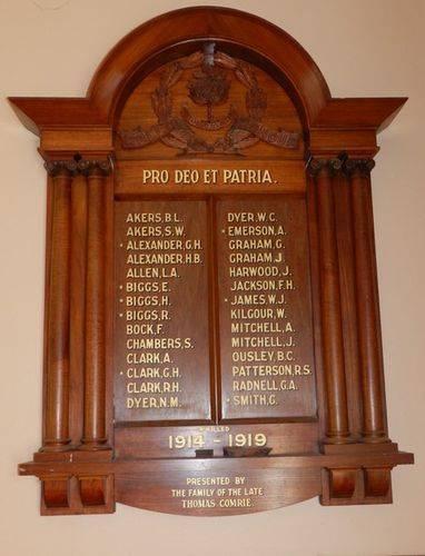 Tarnagulla Honour Roll : 22-March-2013