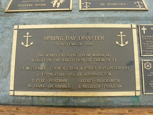 Spring Bay Disaster Plaque : 2007
