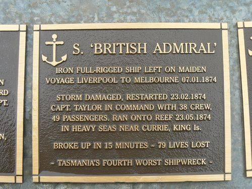 S. British Admiral Plaque : 2007