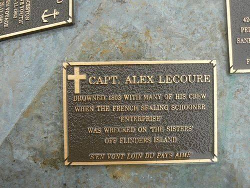 Capt Alex Lecoure Plaque : 2007