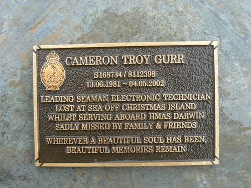 Cameron Troy Gurr Plaque : 2007