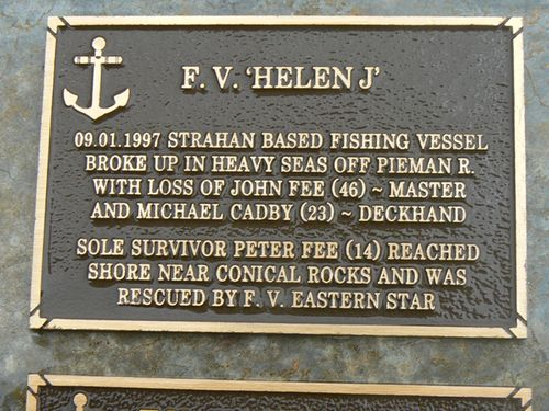 F.V. Helen J Plaque : 2007