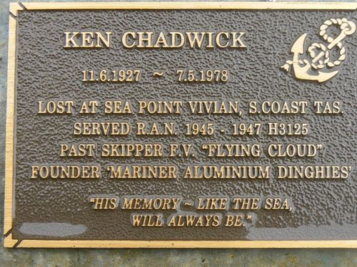 Ken Chadwick Plaque : 2007