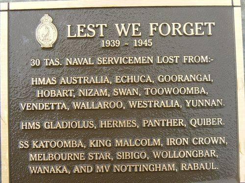 Lest We Forget -Tas Naval Servicemen: 2007