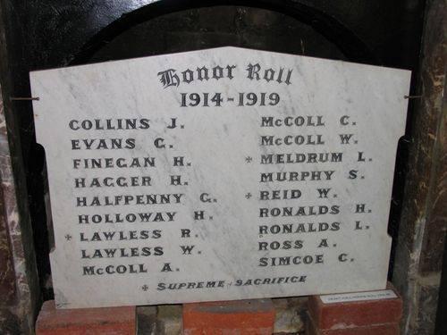 The Heart Honour Roll 1914 - 1919 : 13-December-2011