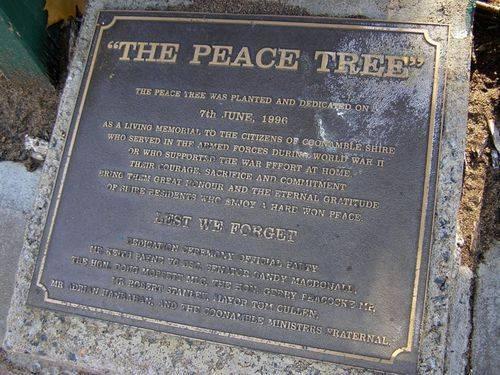Peace Tree Plaque Inscription : 02-August-2014