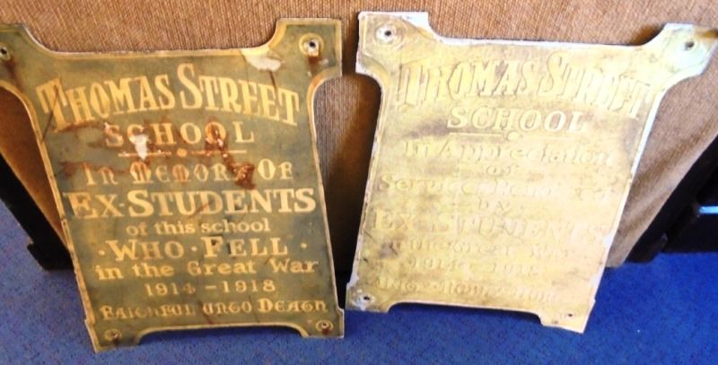 15-June-2016 : Original gate plaques in museum (Father Ted Doncaster)