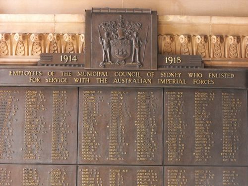 Town Hall World War One Honour Roll : 21-December-2012