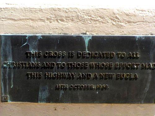 Travellers Cross Inscription