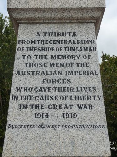 Tungamah War Memorial : 24-November-2012