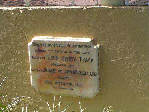 Tyack Dedication Plaque