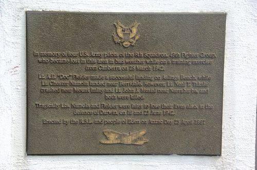 USA Pilots Memorial Plaque : November 2013