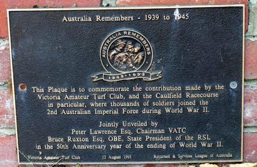 Victorian Amateur Turf Club : 10-March-2013