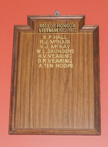 Vietnam Roll of Honour : 29-March-2013