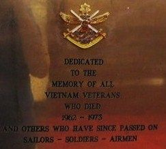 Vietnam Veterans Plaque