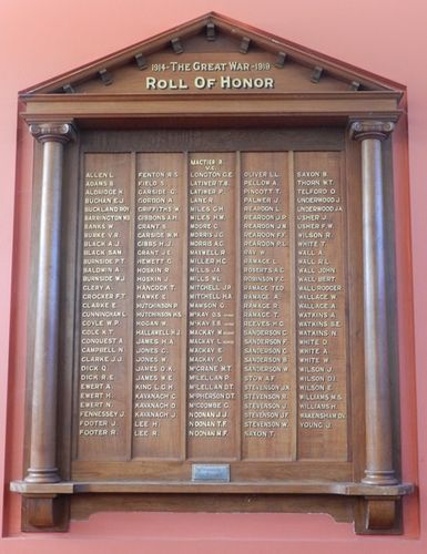 Violet Town World War One Honour Roll : 29-March-2013