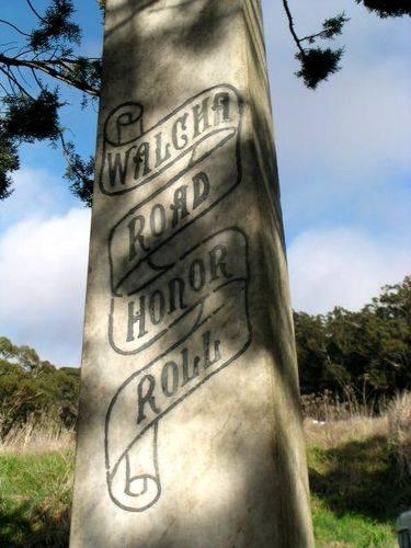 Walcha Road War Memorial Closeup