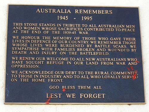 Australia Remembers Inscription : 08-August-2014