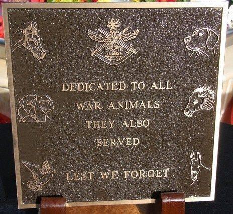 War Animals Plaque