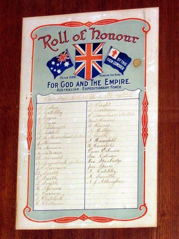 Honour Roll 2 (Sandra Brown): 24-April-2016