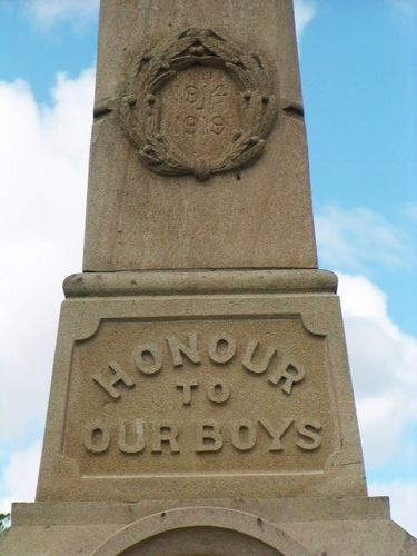 West Ipswich + One Mile Inscription