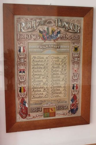 Wilkawatt World War One Honour Roll : 16-September-2012