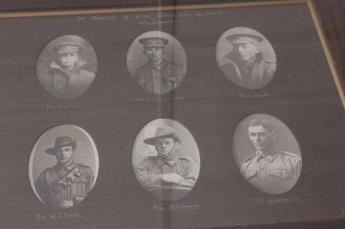 Wilkawatt World War One Honour Roll (Deceased) : 16-September-2012