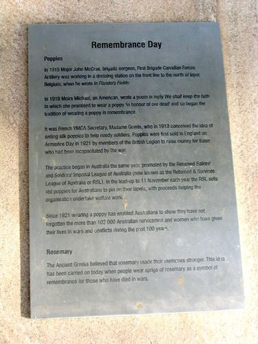 Remembrance Day Plaque
